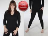 Combi pack met shirt lange mouwen-dames viscose/polyester beeren_