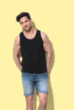 T-shirt mouwloos katoen Stedman 2 pack_