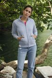 Dames sweater met rits katoen/polyester Fruit-loom_