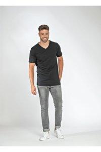 T-shirts v-hals katoen/elasthan Lemon 5 pack