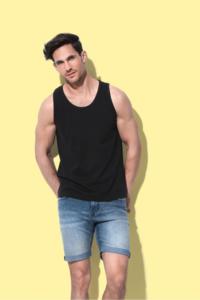 T-shirt mouwloos katoen Stedman 2 pack